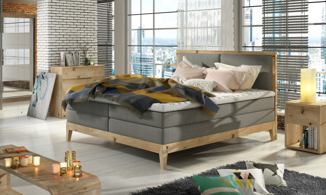 Luxusní box spring postel India 140x200