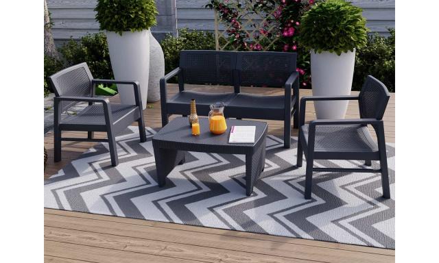 Zahradní sedačka Donover, 2+1+1+stolek