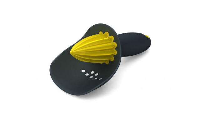 Odšťavňovač se sítkem JOSEPH JOSEPH Catcher™, šedý/žlutý
