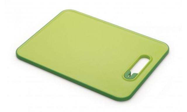 Prkénko s brouskem JOSEPH JOSEPH Slice&Sharpen™, malé/zelené