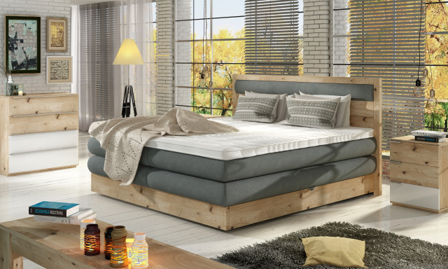 Luxusní box spring postel Delta 160x200