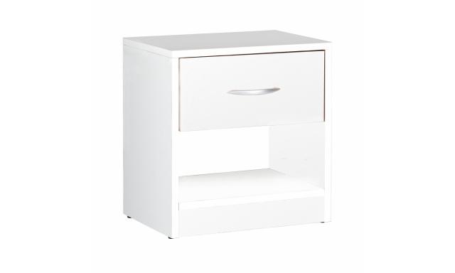 Moderní noční stolek Miami, bílý