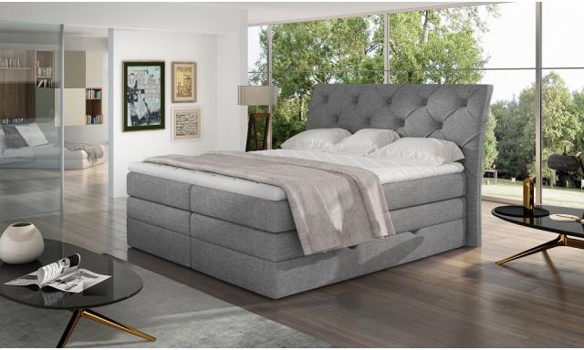 Kvalitní box spring postel Marek 180x200, šedá