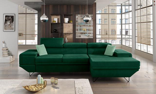Moderní sedací souprava Barako, zelená