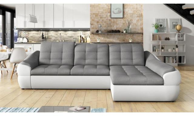 Designová sedací souprava Nalini mini, bílá/šedá