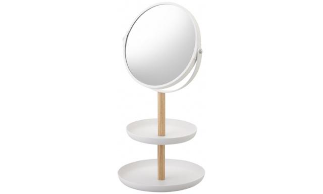 Zrcadlo s miskami YAMAZAKI Tosca, bílé