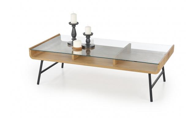 Kvalitní konferenční stůl Amro, dub zlatý/černá