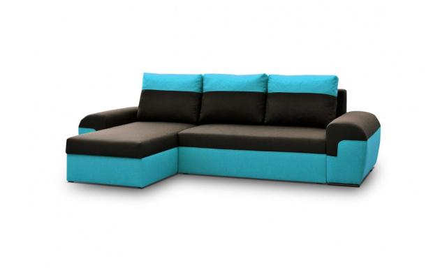 Moderní sedací souprava Moreton, Modrá