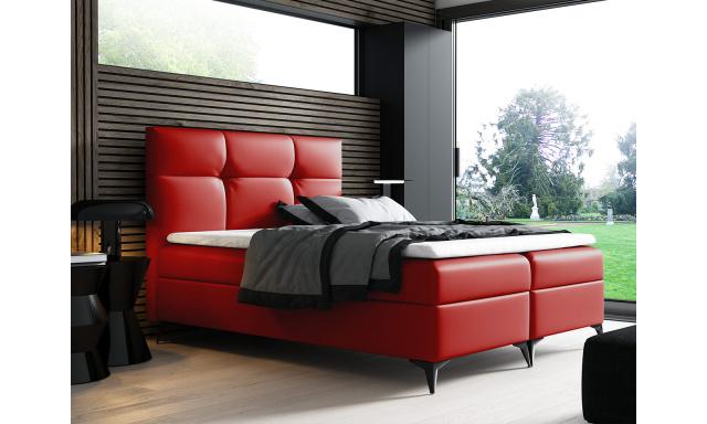 Kontinentální postel Fresina 180x200, červená