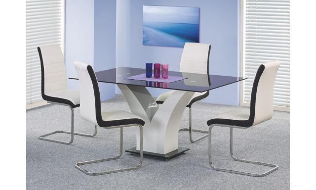 Skleněný jídelní stůl H13, 160x90cm