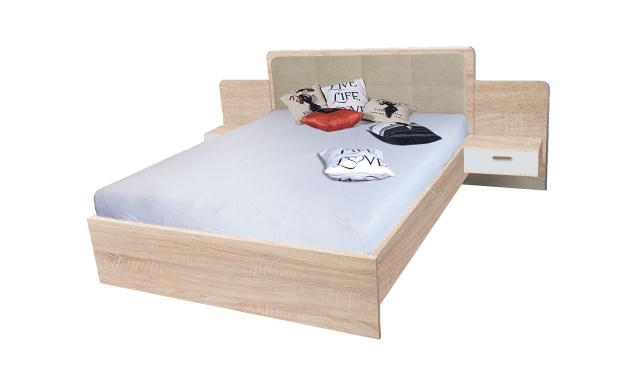 Manželská postel Efka 160x200cm, sonoma