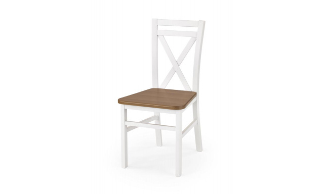 Jídelní židle Derek, bílá / olše