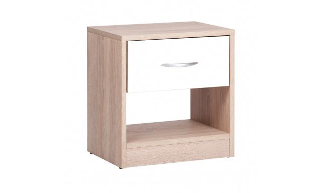 Moderní noční stolek Miami, sonoma/bílá