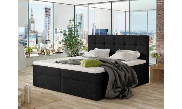 Moderní box spring postel Nestor 200x200, černá
