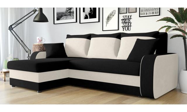 Moderní sedací souprava Kronos, černá/béžová