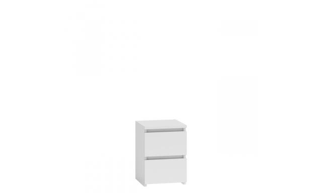 Noční stolek Meste M2, bílý