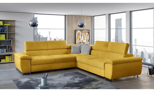 Luxusní sedací souprava Albino, žlutá Velvet