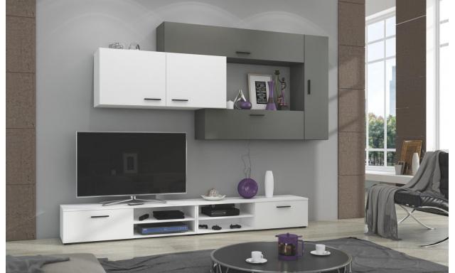 Moderní bytová stěna Java, bílá