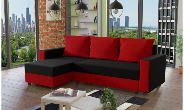Moderní sedací souprava Vibes, černá/červená