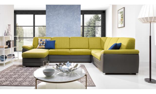 Luxusní sedačka Barenso ve tvaru U