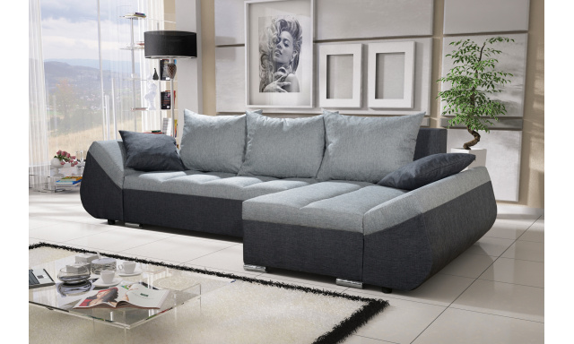 Moderní sedací souprava Corfu, černá/šedá