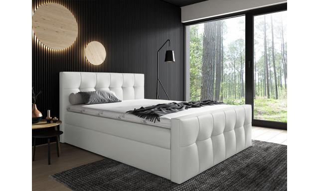 Kontinentální postel Mirage 180x200, bílá
