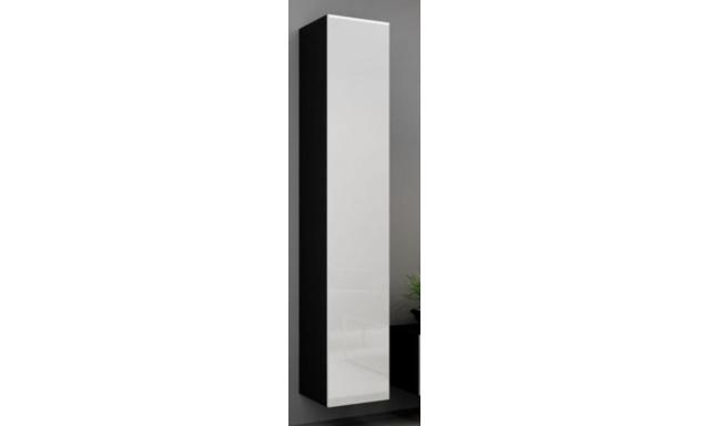 Závěsná skřínka Igore 180 plná, černá/bílý lesk