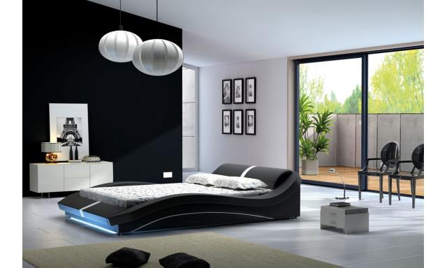 Designová postel Carlos A5 180x200cm + LED osvětlení