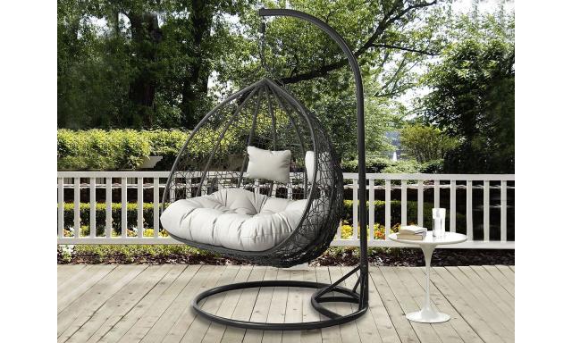 Zahradní závěsné křeslo pro 2 Starco, šedé + šedá látka