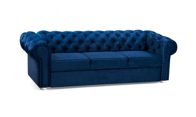 Pohovka ve stylu Chesterfield Valerie 3er, modrá
