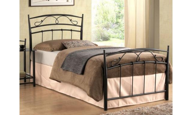Černá kovová postel S17 - 90x200cm