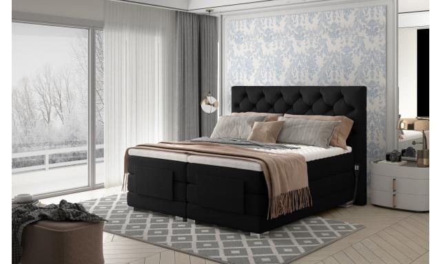 Box spring postel Clif 180x200, černá, elektrické polohování