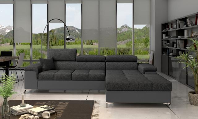 Moderní rohová sedačka Relina, šedá/šedá Inari