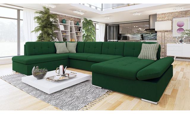 Luxusní sedačka ve tvaru U Bravo, zelená
