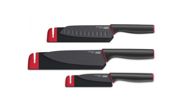 Nože s krytom a brúskou JOSEPH JOSEPH Slice & Sharpen ™ sada Paring + Chef's knife / lúpací + kuchársky