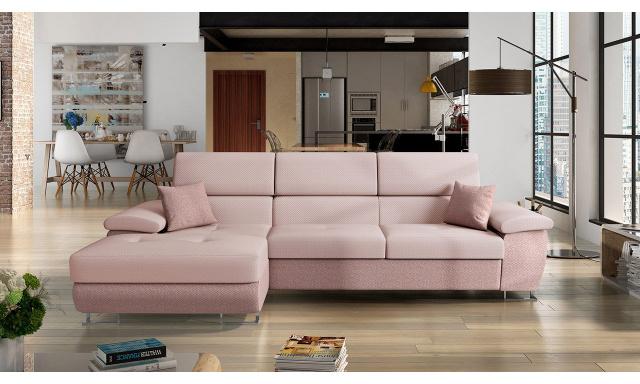 Luxusní sedací souprava Cres, růžová Bengal