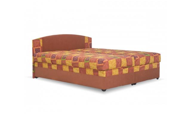 Levná postel Kappa, 160x200cm, oranžová