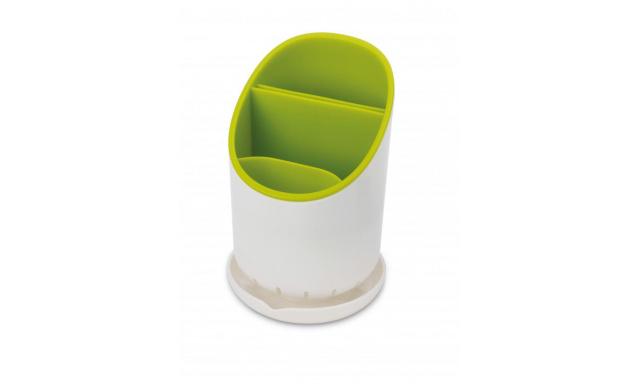 Odkapávací stojánek na příbory, nože a nástroje JOSEPH JOSEPH Dock™, bílý/zelený