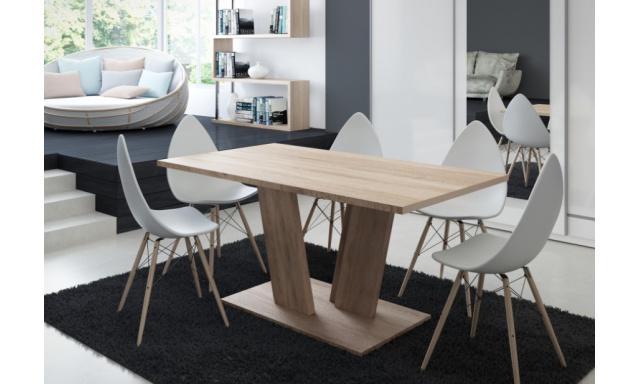 Moderní jídelní stůl Voice, sonoma