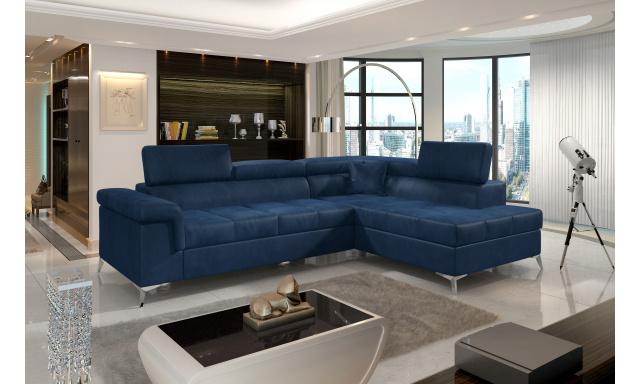 Moderní rohová sedačka Colnago, modrá