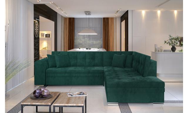 Moderní rohová sedačka Presta, zelená