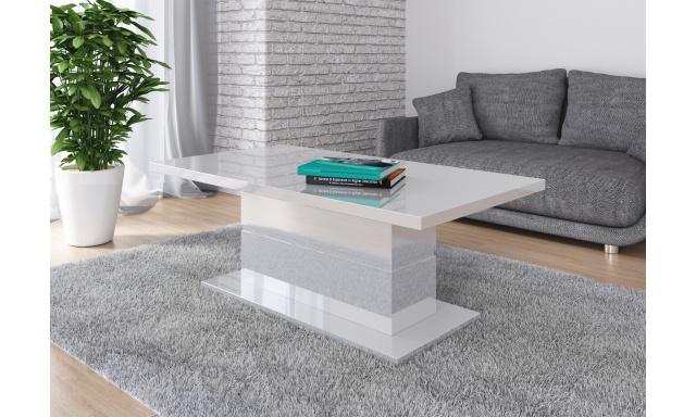 Moderní konferenční stůl Marika, bílý lesk