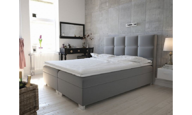 Moderní box spring postel Canter 180x200, šedá