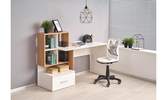 PC stůl Grosetto, dub zlatý/bílá