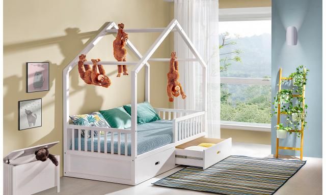 Dětská postel Winter ve tvaru domečku
