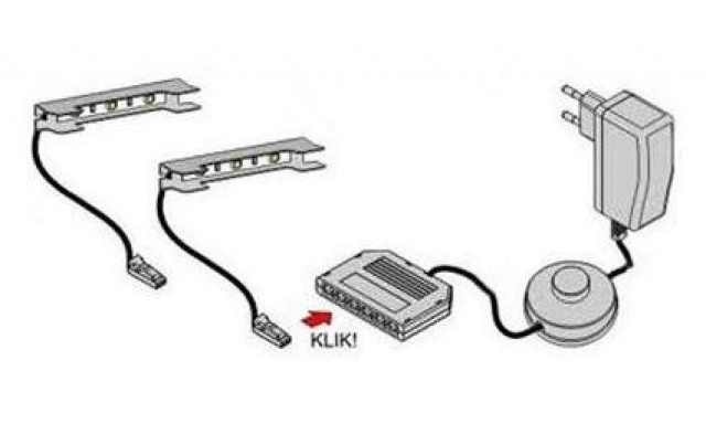 LED osvetlenie k TV stolíku Igor new, 2-bodové biele