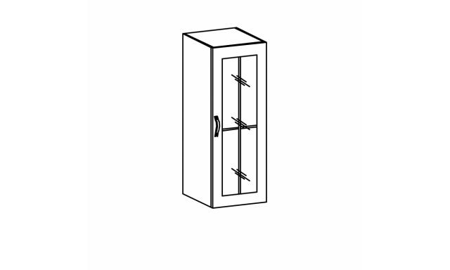 REVAL horní skřínka 40cm - vitrína vysoká, levá