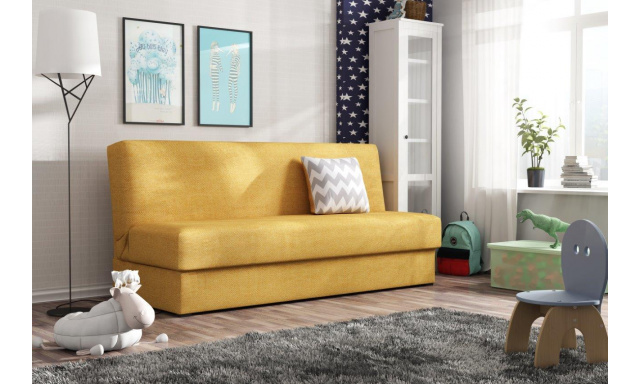 Rozkládací pohovka Arco, žlutá