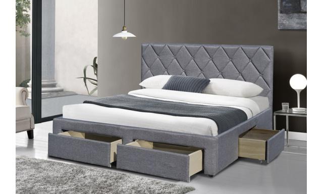Manželská postel s úložnými prostory H7902, 160x200cm