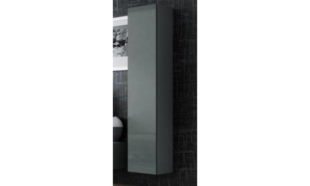 Závěsná skřínka Igore 180 plná, šedá/šedý lesk